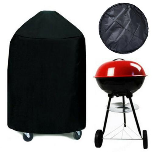 "Round Charcoal Kettle BBQ Grill 22"" Diameter EZ Use Cover w/"