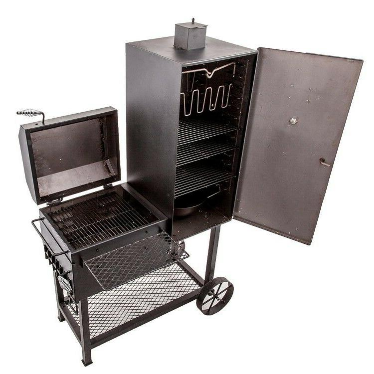"Smoker Charcoal Wood Chips 36"" Wide Body Vertical Adjustable"