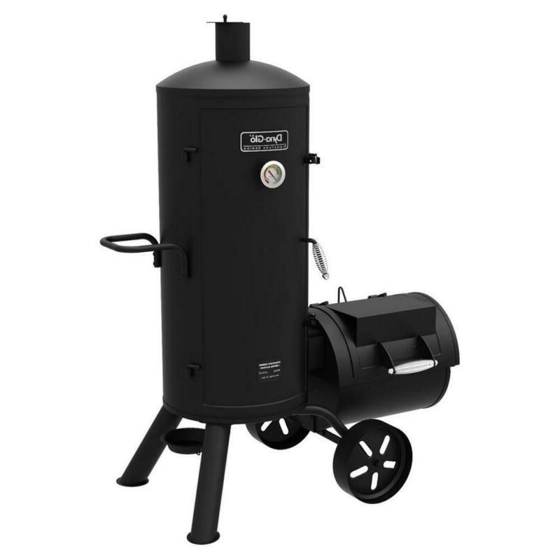 Smoker Grill Charcoal Black Heavy Duty Vertical Offset Heat
