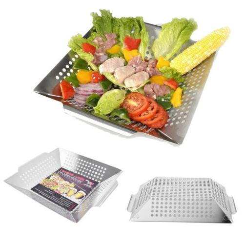 stainless steel bbq vegetable grill basket fit