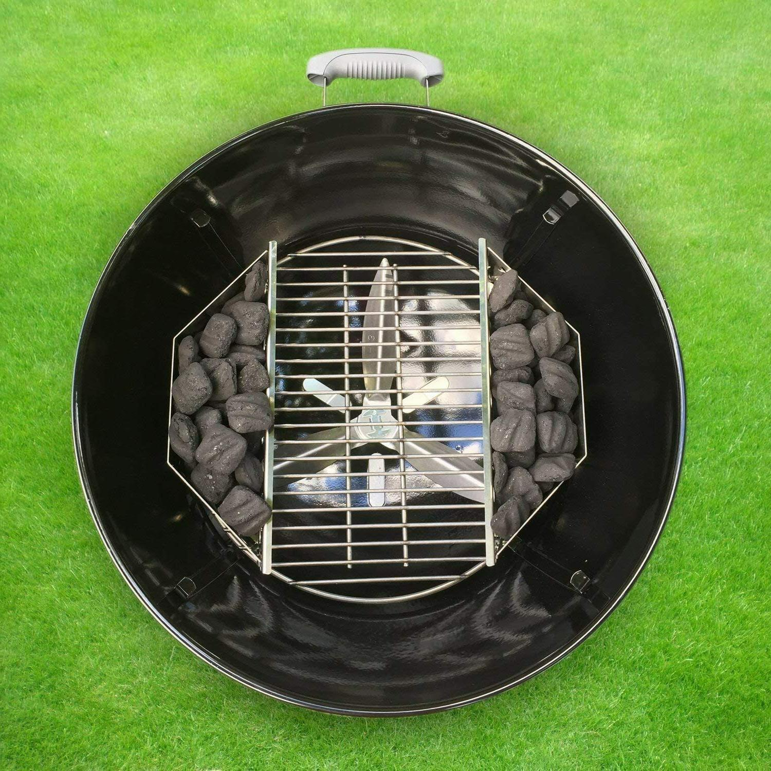 Stainless Steel Charcoal BBQ Grill Holders