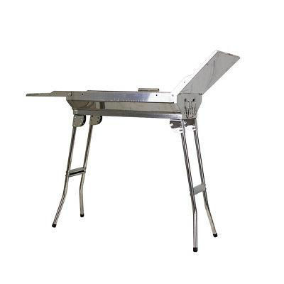 Stainless Charcoal BBQ Grill Outdoor Camping