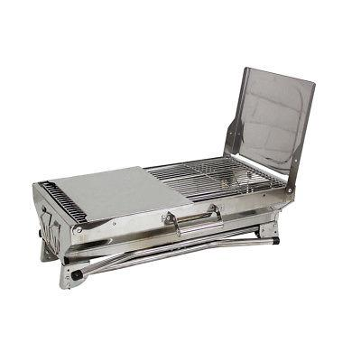 stainless steel portable folding charcoal bbq grill