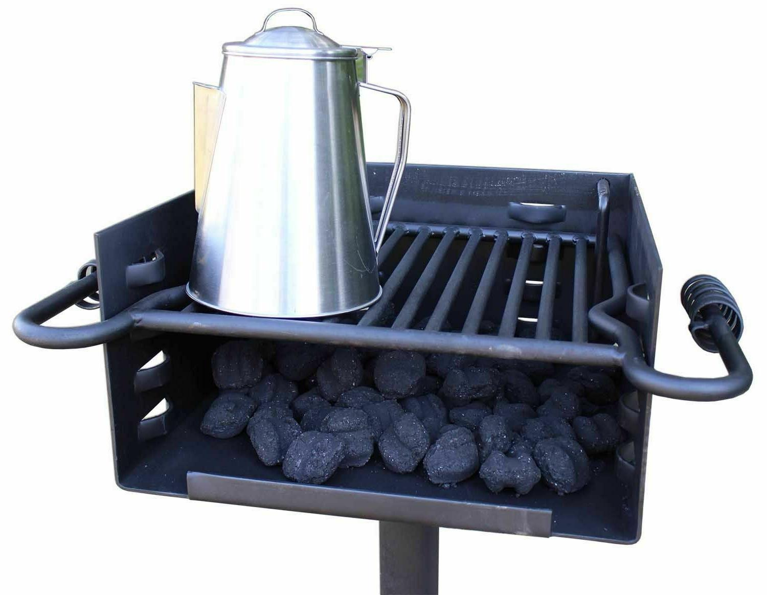 Style Grill Charcoal Outdoor Heavy Duty Camp#