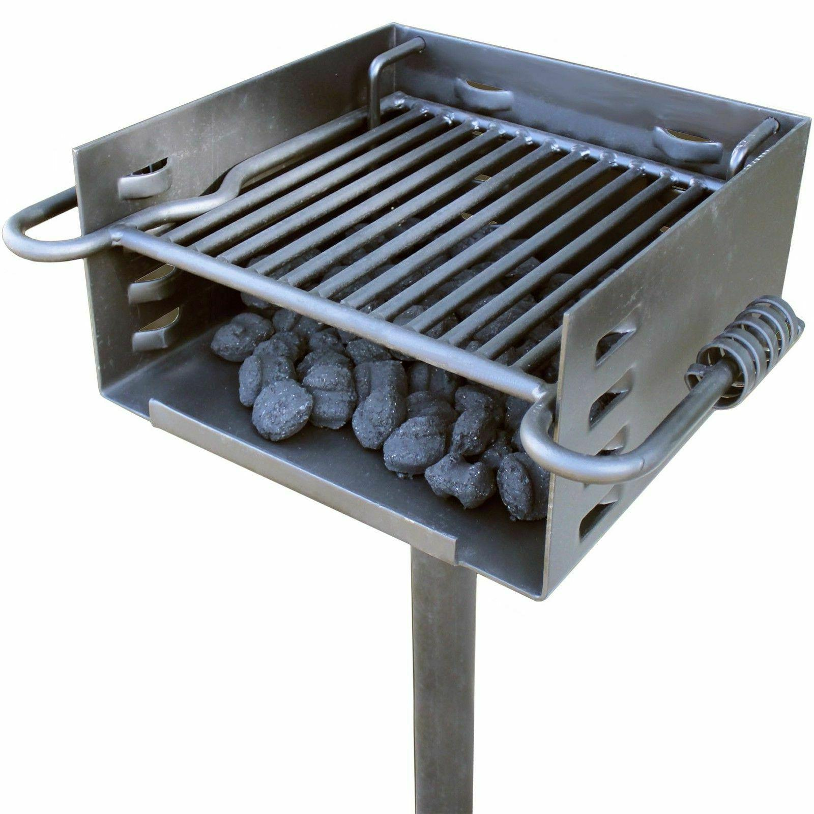 titan single post park style grill charcoal
