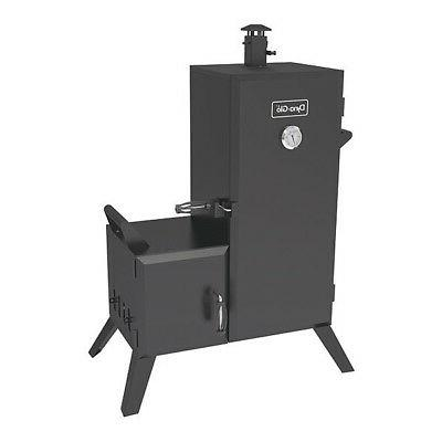 vertical offset charcoal smoker dyna glo dgo1176bdc