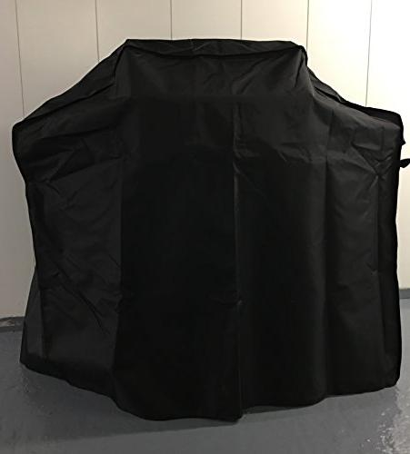 Comp Bind Cover Weber E-310 Black Cover Protect Grill of Wind, rain Hail. Dimensions 53''W x