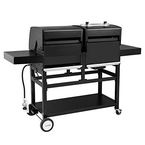 Royal Gourmet ZH3003 Dual 3-Burner Charcoal Grill for Outdoor Cooking, Black