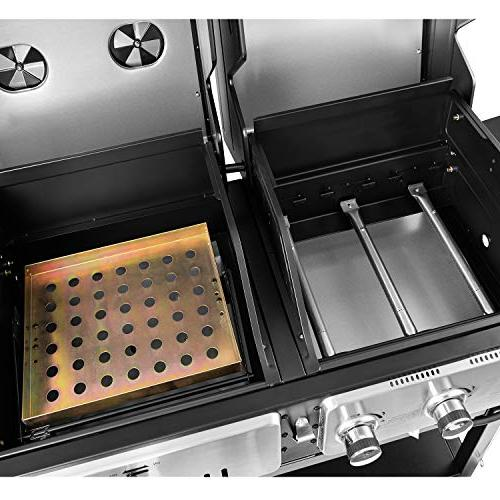 Royal ZH3003 Dual 3-Burner Grill Combo, Outdoor Cooking,