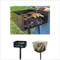 Large Heavy Duty Park Style Grill Charcoal BBQ - With Grill