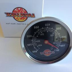 "LavaLock® 2-5/8"" BBQ smoker thermometer temp gauge"