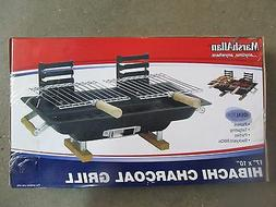 Marsh Allen Hibachi Charcoal Grill 17 X 10 133 Sq. In. Black