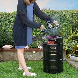 Multi-Function Barrel Pit Charcoal Smoker Grill BBQ Pizza Ov