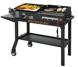 """New Blackstone Griddle and Charcoal Grill 17"""" Combo Flat Top"""