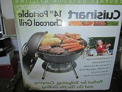 """NEW CUISINART CCG-190 14"""" Portable Charcoal Grill* Black Sea"""