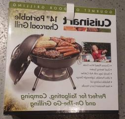 """NEW Cuisinart Portable Charcoal Grill, 14"""" Tailgating,Picnic"""