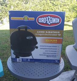 "New Kingsford Portable Grill - 14"" Black Kettle Grill with H"