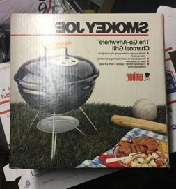 NOS Vintage Weber Smokey Joe Black Charcoal Grill Small Camp