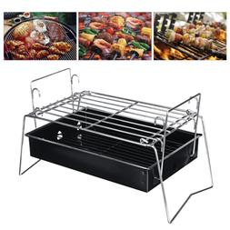 Outdoor BBQ Barbecue Charcoal Grill Camping Picnic Cooking S