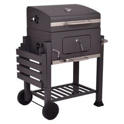 Outdoor Patio Barbecue BBQ Charcoal Grill Slow Smoking Grill