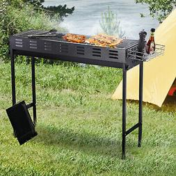 Outside Iron Compact Charcoal Grill w/ Cooking Grates & Good