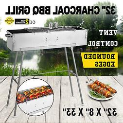Party Griller 32 Stainless Steel Charcoal Grill BBQ Grill Sa