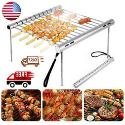 portable barbecue charcoal grill stainless steel outdoor