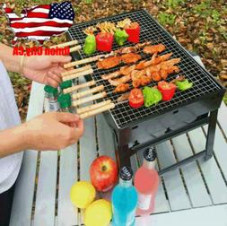 Portable Barbecue Charcoal Stove BBQ Grill Kabob Camping Pic