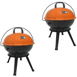 "Expert Grill 14.5"" Portable Charcoal Grill, Competitive Oran"