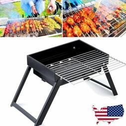 Portable Charcoal BBQ Grill Folding Barbecue Shish Kabob Sto