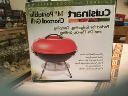 Cuisinart Portable Charcoal Grill, 14-Inch Red new unopened
