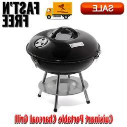Cuisinart Portable Charcoal Grill, Durable Enamel-Coated Fir