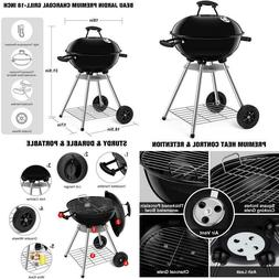 Beau Jardin Portable Charcoal Grill For Outdoor 18 Inch Barb