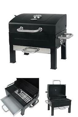 PORTABLE CHARCOAL GRILL Outdoor Yard BBQ Tailgate Cooking Bl
