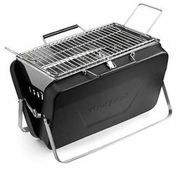 Sougem Portable Charcoal Grill Stainless Steel Folding Barbe