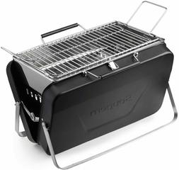 Portable Charcoal Grill Table Top Stainless Steel Folding Ba