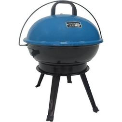 Expert Grill New 14.5 inch portable charcoal grill Blue
