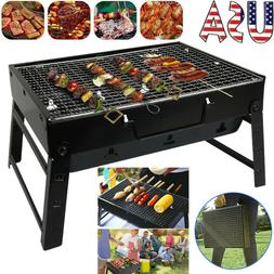 Portable Foldable Barbecue Charcoal Grill Stove Kabob BBQ Ou