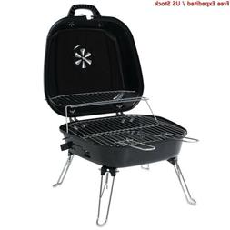 ISUMER Portable Foldable Tabletop Charcoal BBQ Grill with fo