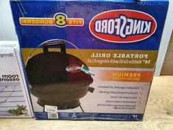 """Kingsford Portable Grill 14"""" Black Kettle Grill with Hinged"""