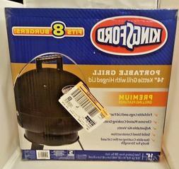 "Kingsford Portable Grill 14"" Black Kettle Grill w/ Hinged Li"