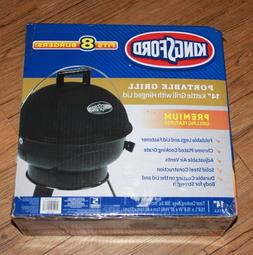 "Kingsford Portable Grill 14"" Black Kettle Grill with Hinged"