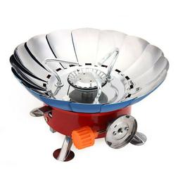 Portable Lotus Shape Windproof Camping Gas Stove Mini Outdoo