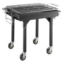 "Portable Outdoor 30"" Heavy Duty Steel Charcoal Grill  w/ Rem"