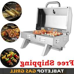 ZOKOP Portable Stainless Steel Grill Outdoor Barbecue Table