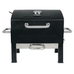 Premium Portable Charcoal Grill, Black and Stainless Steel P