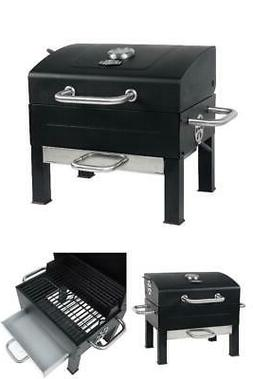 Expert Grill Premium Portable Charcoal Grill, Black and Stai