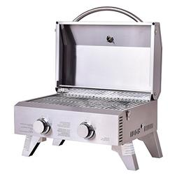Giantex Propane Tabletop Gas Grill Stainless Steel Two-Burne