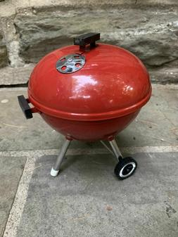 Weber Red Mini Charcoal Kettle BBQ Grill Teleflora Toy With