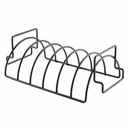 Rib Rack for Grilling,Non-Stick Stainless Steel BBQ Tools St